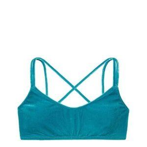 VS PINK Velvet Bikini Scoop Top Large